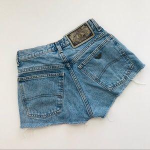 Armani vintage denim cutoff high waisted shorts